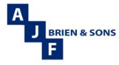 Agency logo - AJF Brien Sons