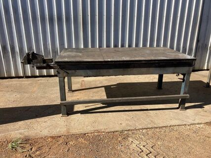 Steel Work Bench, Draw & Vice