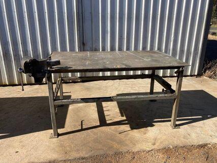 Steel Work Bench & Vice