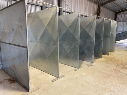 Portable Steel Wool Classing Bins x6