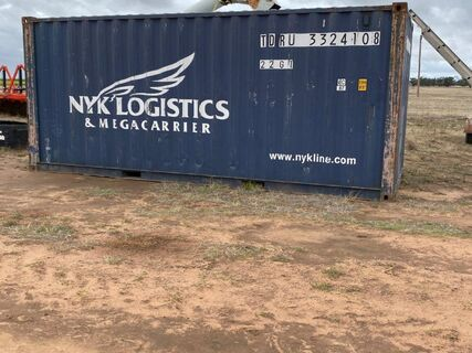 20' Shipping Container (Blue)