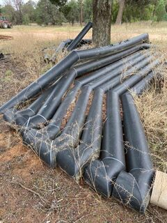 8x 2400mm x 300mm Black Brute Irrigation Syphons