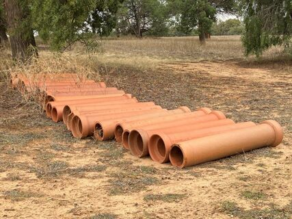 "20x 9"" Vicclay Irrigation Pipe"