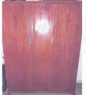2 matching vintage Rosewood wardrobes -