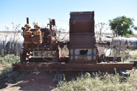 Old hammermill with GM motor