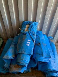 Cotton tarps x 10