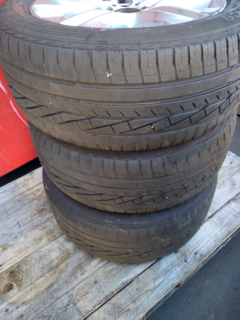 3 x Goodyear Excellence 235/50R17 x on assorted rims