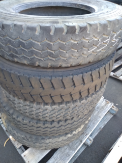 5 x assorted 10R 22.5 tyres