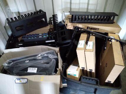 Computer network rack brackets