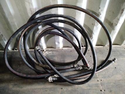 """4 x 1"""" hydraulic hose c/w camlock fittings"""