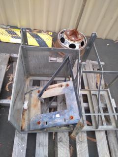 Assorted steel frames
