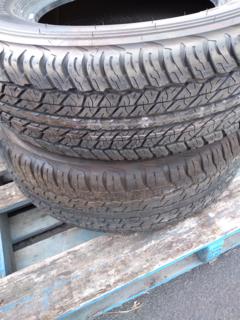 "2 x Dunlop Grantrek 17"" tyres. 1 x AT20, 1 x AT22"