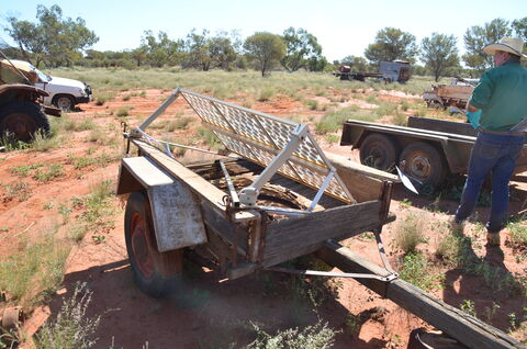 OLD TIMBER TRAILER