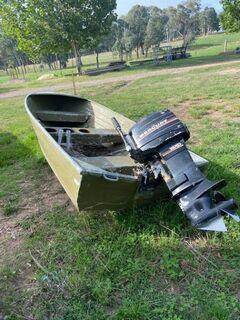 3.6 Metre Aluminium Boat & Mercury 18HP Motor