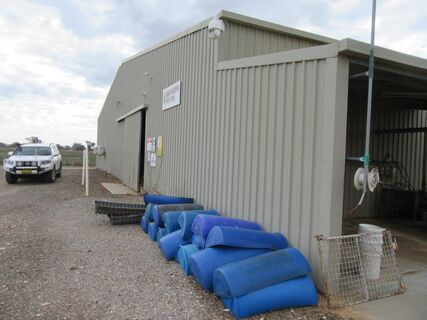 30m x 35m Colorbond shed with lighting
