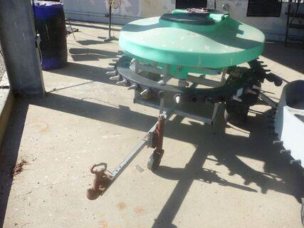 Polymaster mobile 36 teat calf feeder (lids missing)