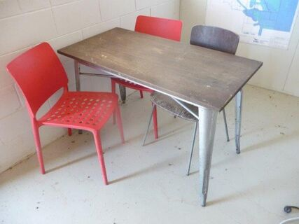 Table chairs (4) suit dairy office