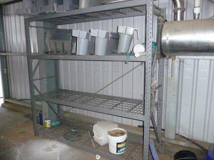 2 1.8m x 530mm steel shelving.