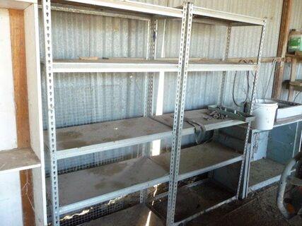 2 steel 3' x1' shelving