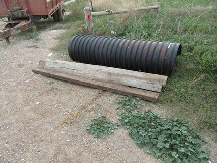 14m x 200mm black brute pipe