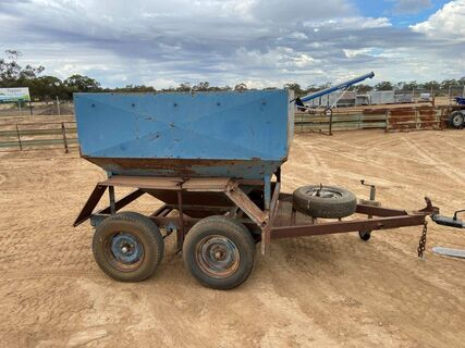 Blue Feed Cart