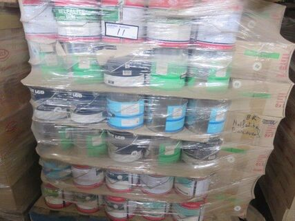 Approx 600 litres mixed colours water & oil base