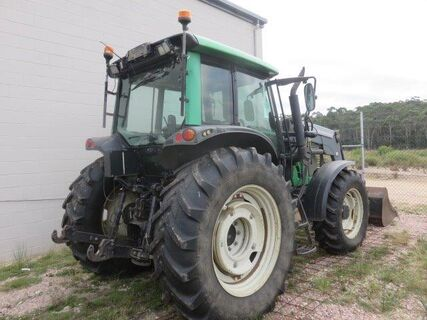 Valtra N101 tractor with Valtra 55 front end loader
