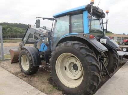 Valtra N111 tractor with Valtra 55 front end loader