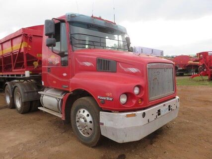 2003 Iveco prime mover, auto, air bags, 90,000 kms on reco engine