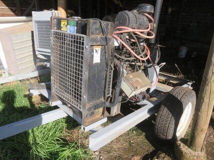 Trailing diesel pump set with Cummins 4 cyl engine & Southern Cross 80 x 50 x 250 pump