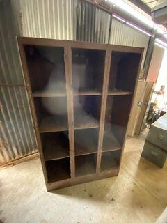 Metal brown cabinet