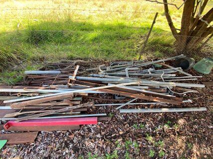 Assorted scrap metal