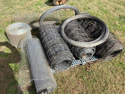 Assorted fencing materials
