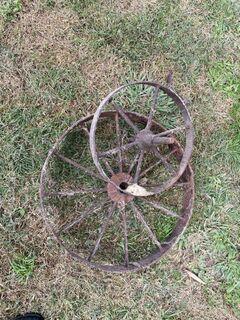 Old steel wheels