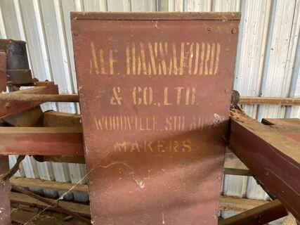 Alf Hannaford grain cleaner