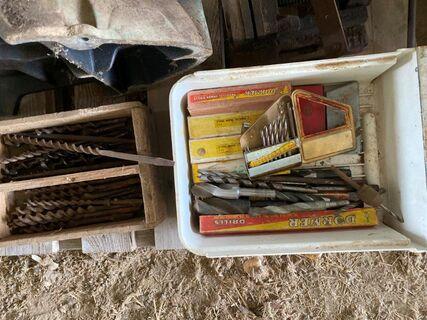 Drill press & items