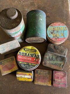 Old metal tins