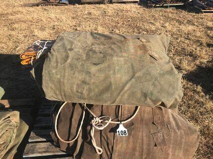 Canvas B-double tarps
