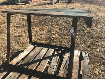Steel & timber bench