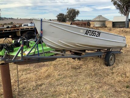 12' Quintrex aluminium boat on trailer