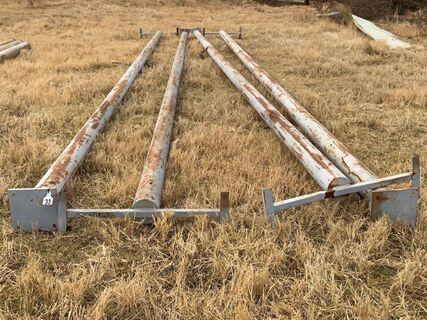"""4 x 6"""" x 9mtr steel light poles"""