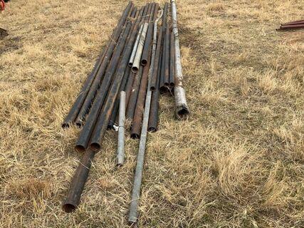 2 + 3 inch gal & black steel pipe (various lengths)