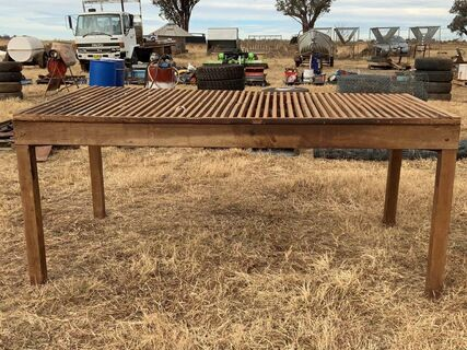 Timber wool table