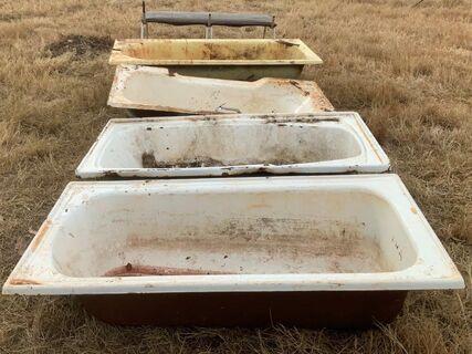 Numerous bath tubs