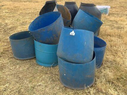 Various horse feeders
