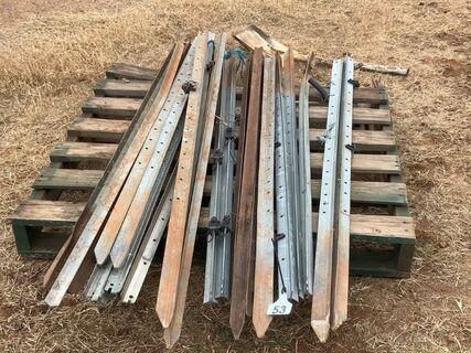 Steel posts (gal & black)