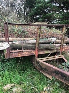 4 x Old Steel Trailers
