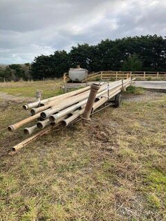 Irrigation Pipes/Trailer