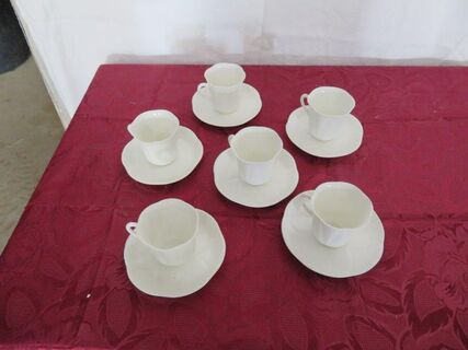 "Shelley Tall 'Demitasse"" cup & saucer set"