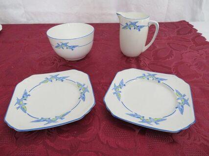 """Foley China – """"Birds"""" Jug, bowl and 2 plates"""